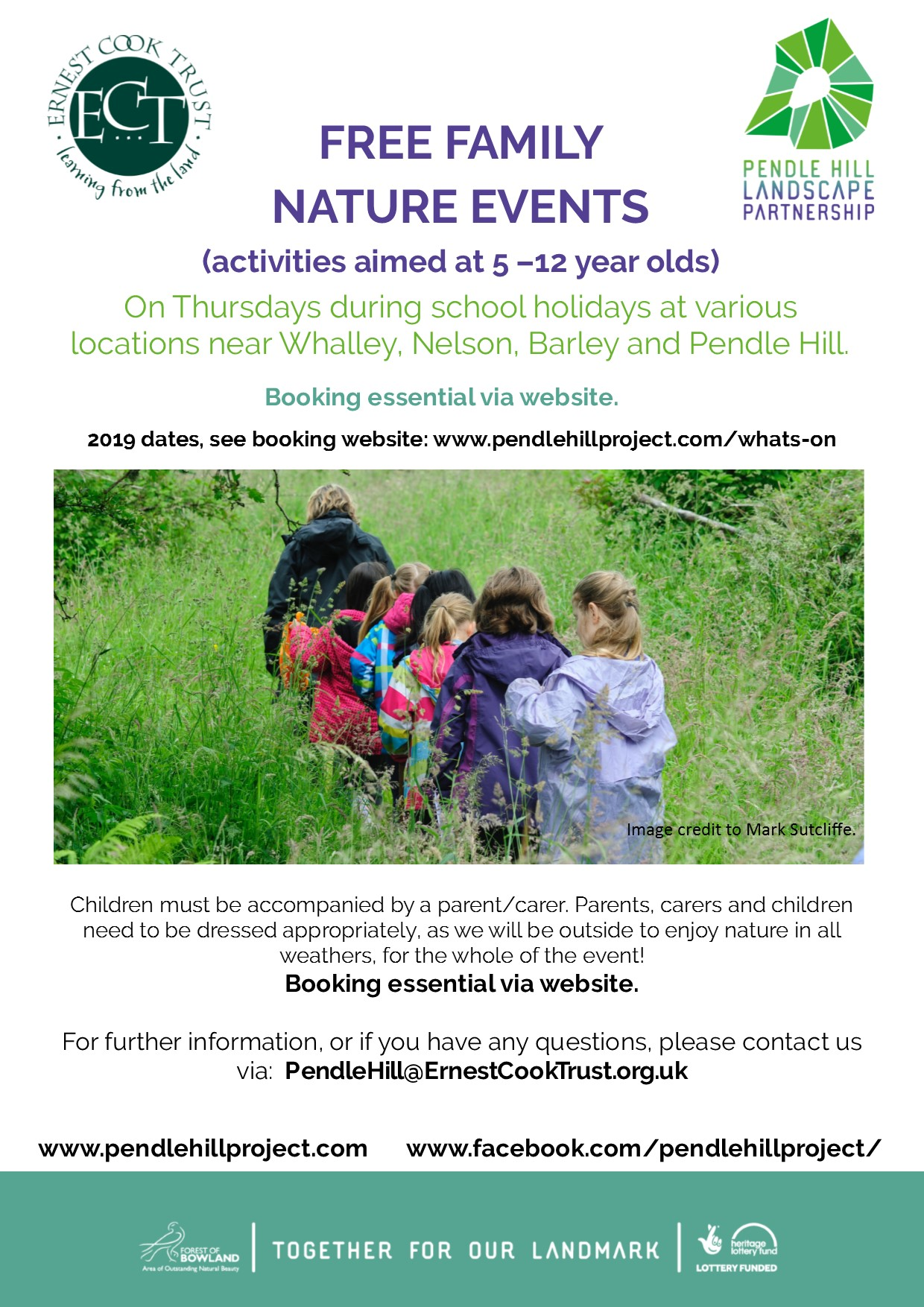 Forest family events poster 2019