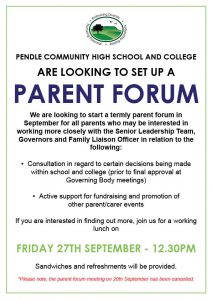 Parent Forum - Working Lunch