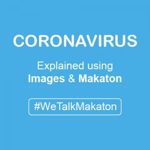 Coronavirus using images and makaton