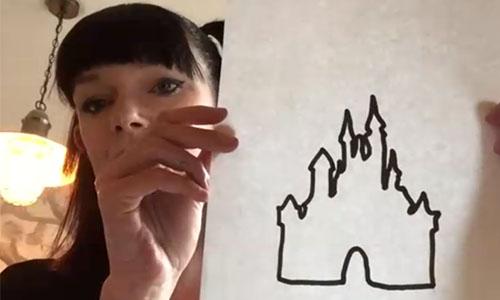 Glitter silhouette art with Dani