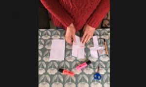 Make a paper helicopter with Janet