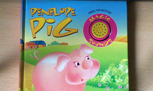 Penelope Pig with Chris
