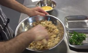 Butterbean burgers mixing part 1